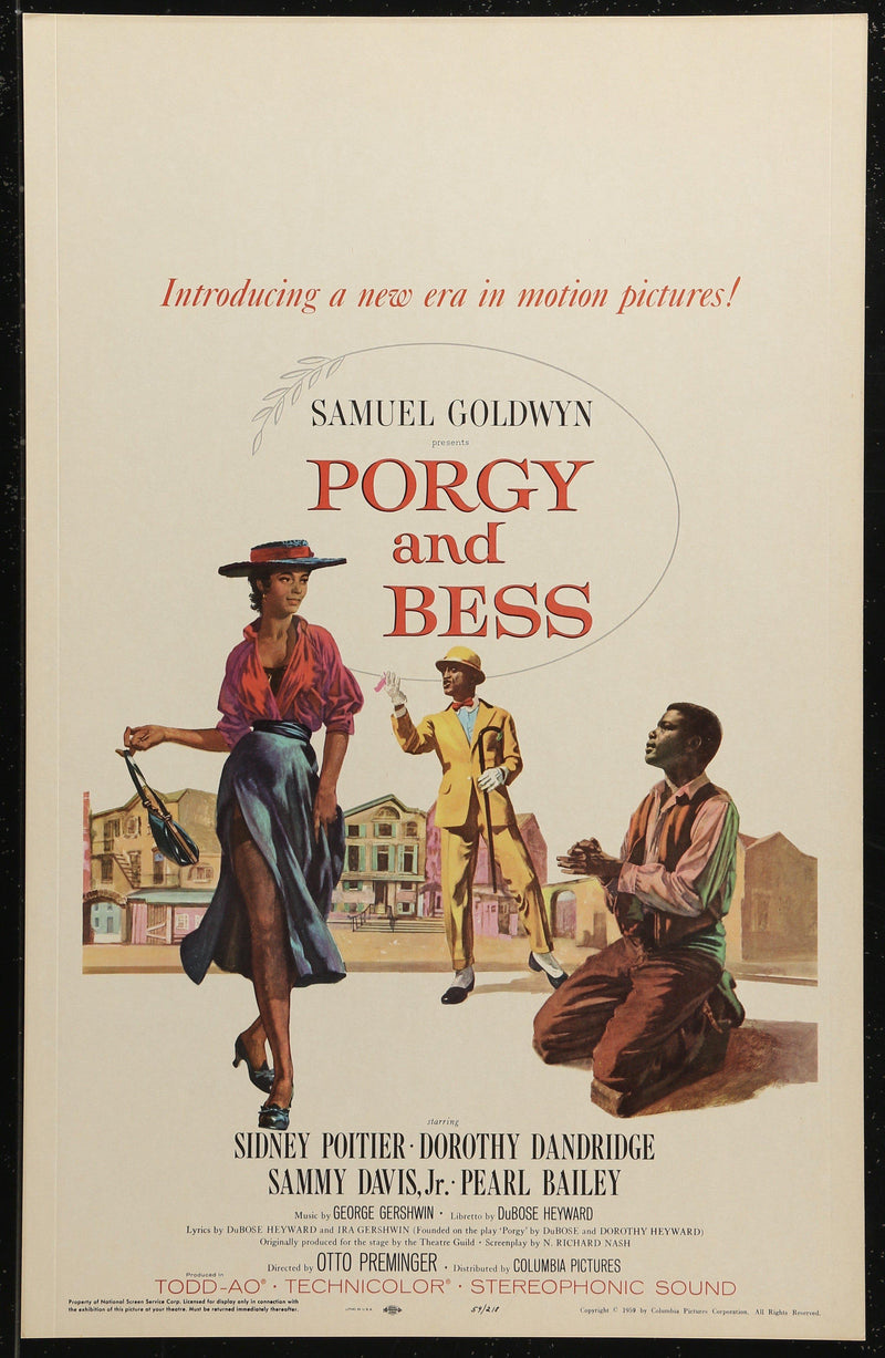 Porgy and Bess Window Card (14x22) Original Vintage Movie Poster