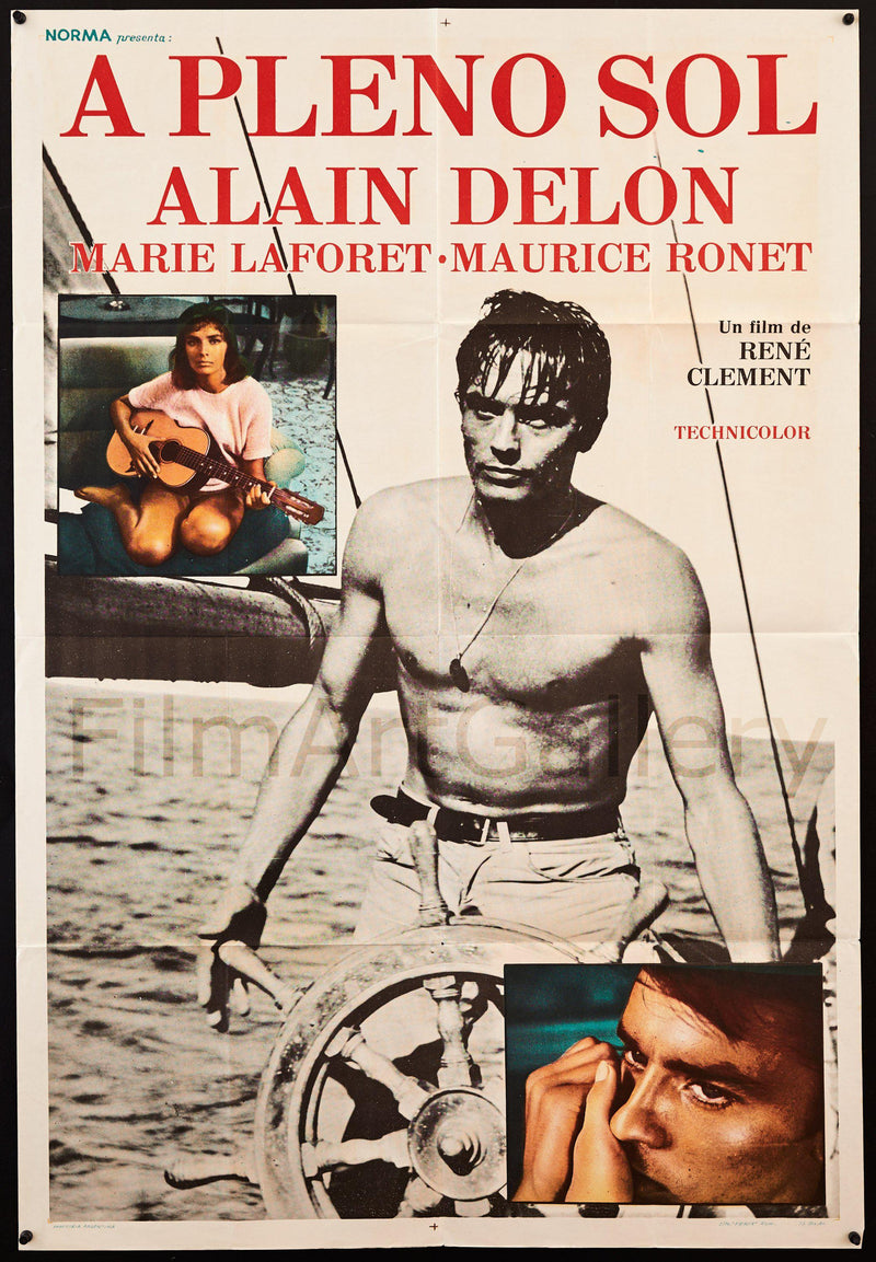 Purple Noon (Plein Soleil) 1 Sheet (27x41) Original Vintage Movie Poster