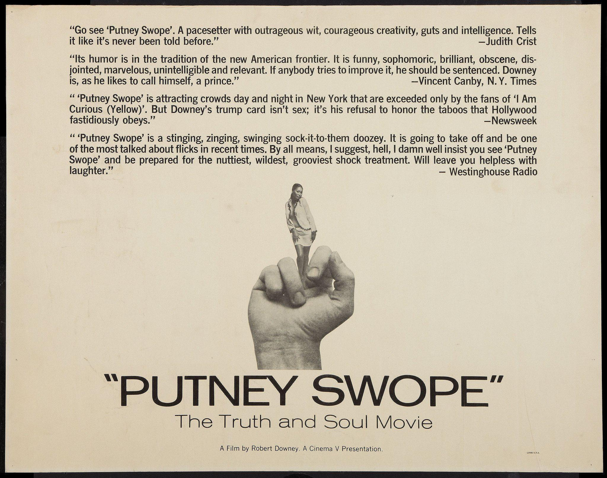 Putney Swope Half sheet (22x28) Original Vintage Movie Poster