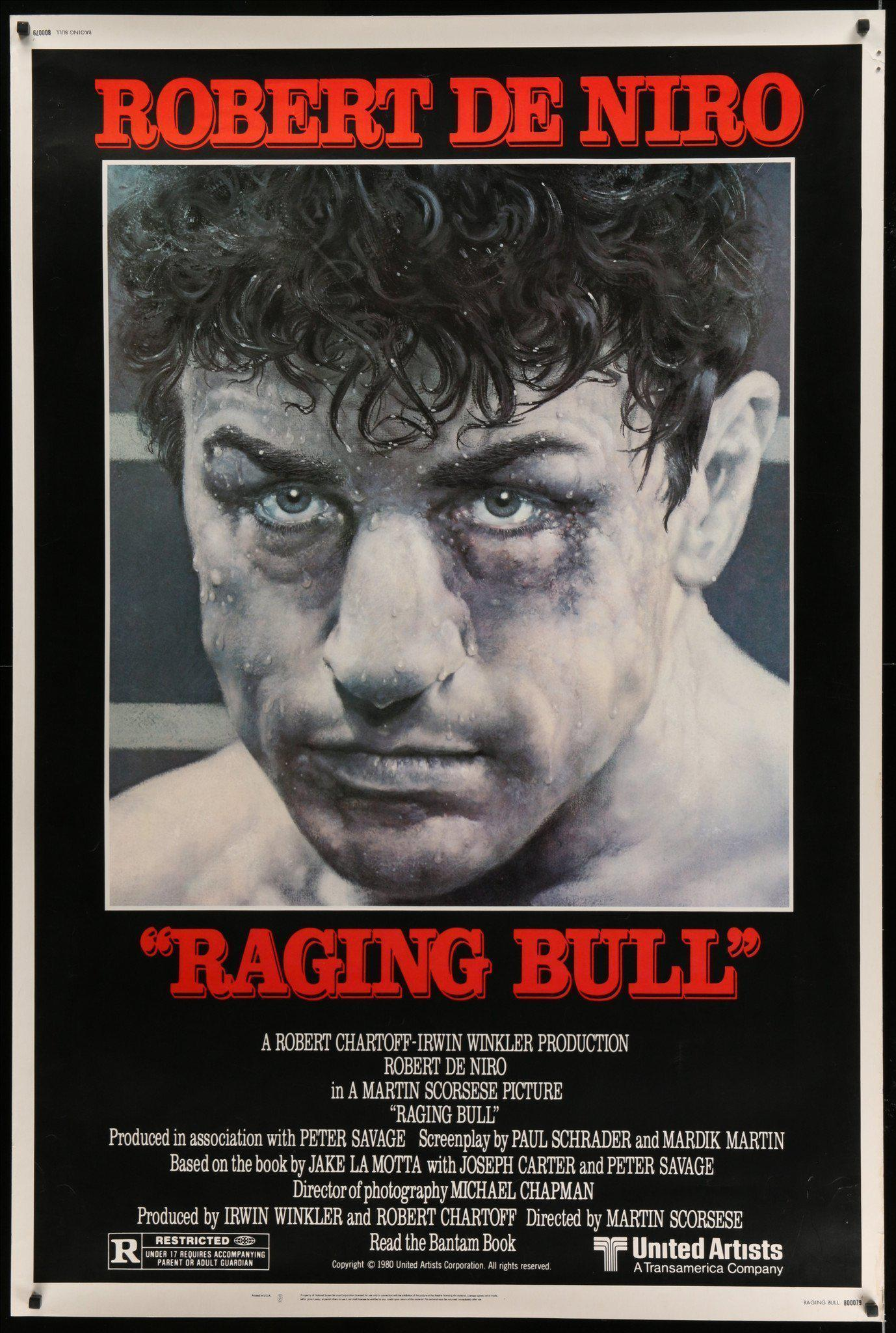 Raging Bull Vintage Movie Poster | 40x60 Original Film Poster | 6249