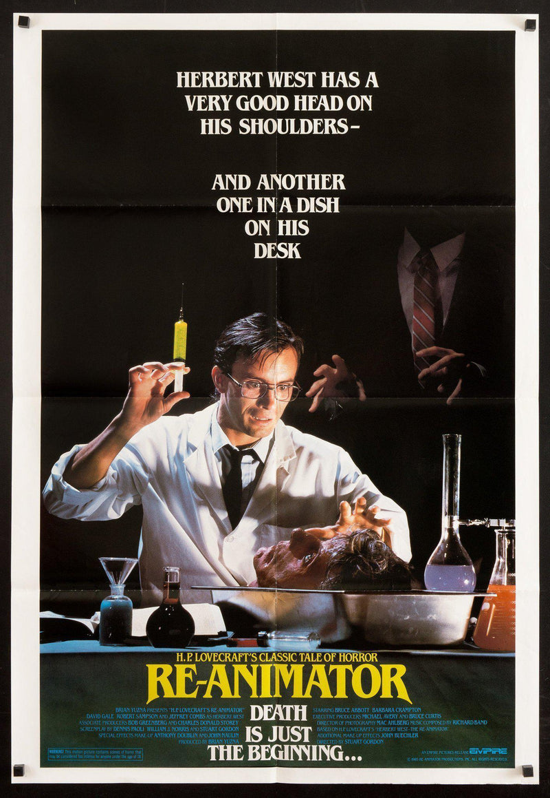 Re-Animator (Reanimator) 1 Sheet (27x41) Original Vintage Movie Poster