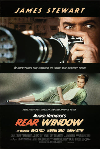 Rear Window 1 Sheet (27x41) Original Vintage Movie Poster