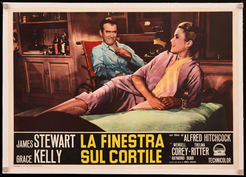 Rear Window Italian Photobusta (18x26) Original Vintage Movie Poster