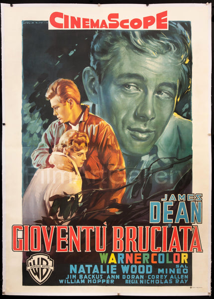 Fred Martin Ford >> Rebel Without A Cause Vintage Movie Poster | Italian 4 Foglio (55x78) Original Film Poster | 7670