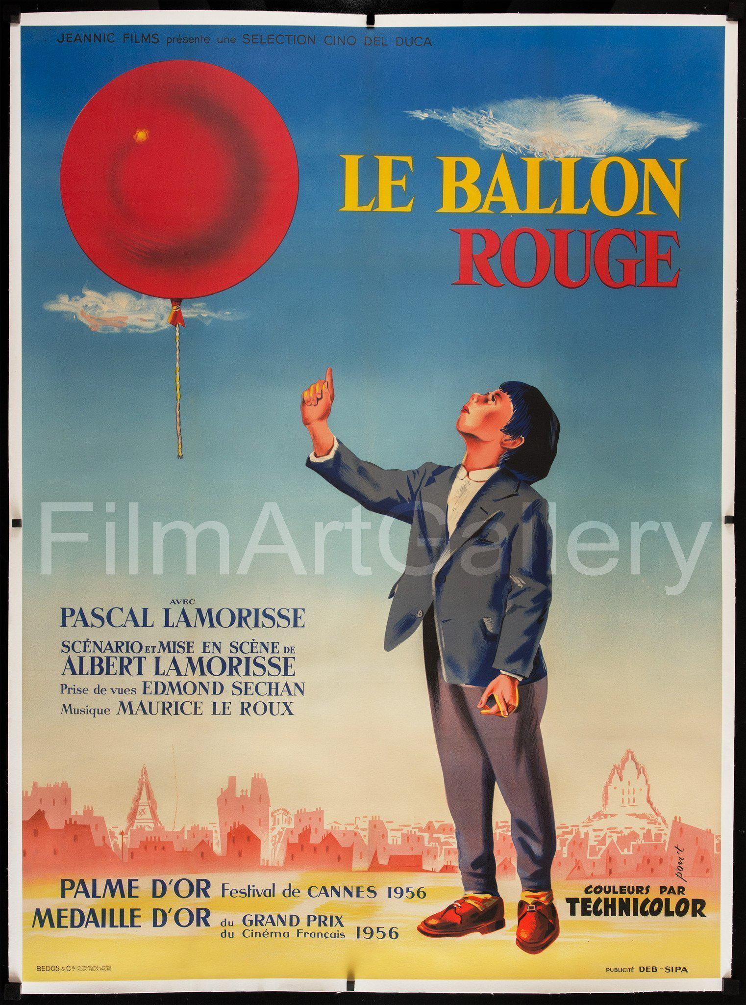Red Balloon, The (Le Ballon Rouge) French 1 Panel (47x63) Original Vintage Movie Poster