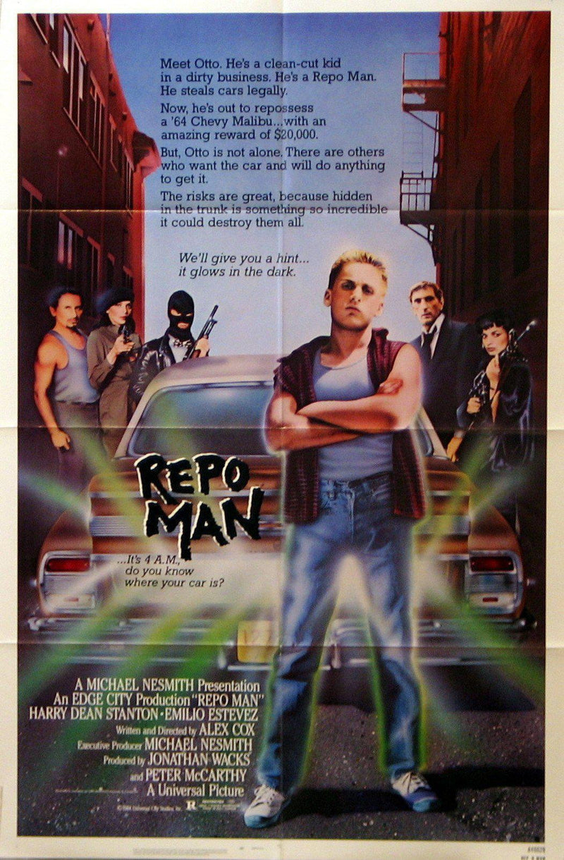 Repo Man 1 Sheet (27x41) Original Vintage Movie Poster