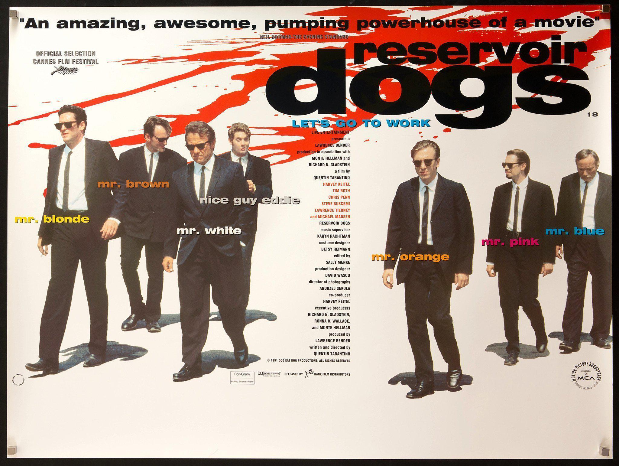 Reservoir Dogs British Quad (30x40) Original Vintage Movie Poster