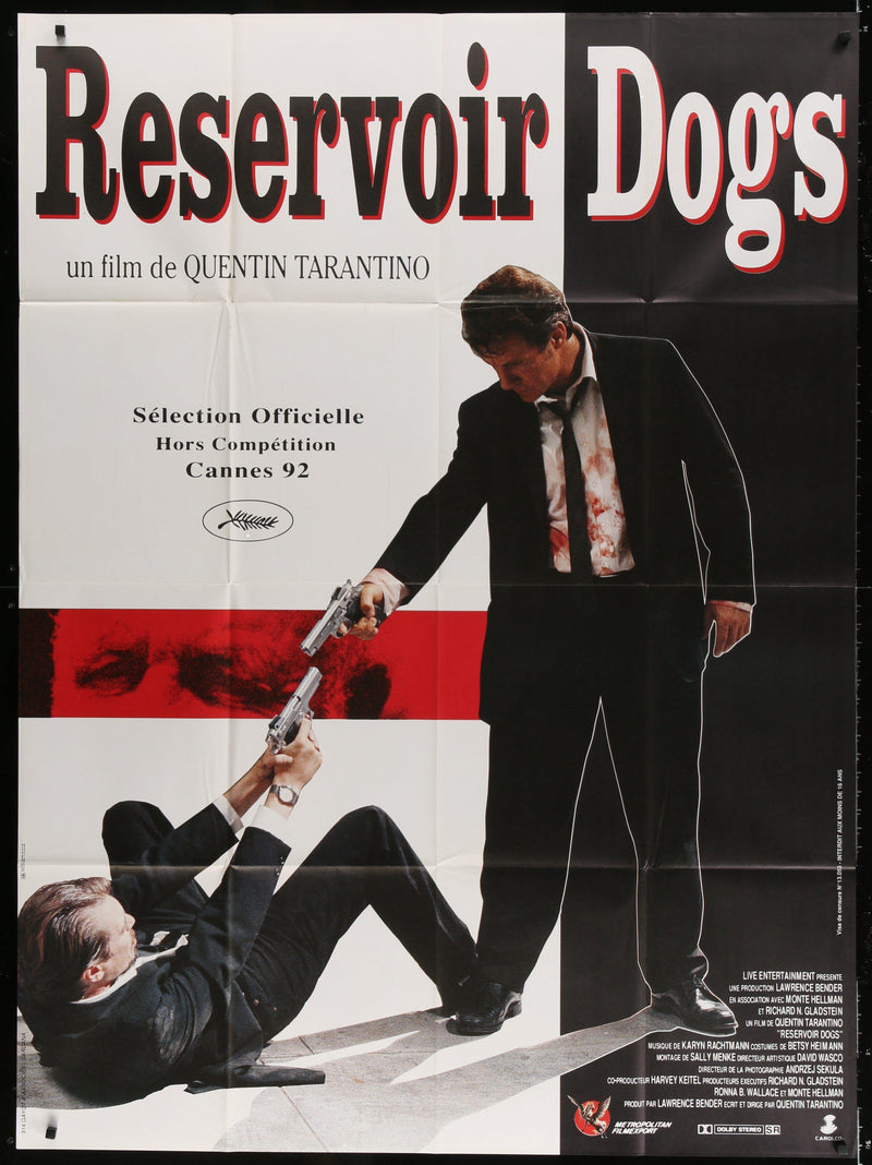Reservoir Dogs French 1 panel (47x63) Original Vintage Movie Poster