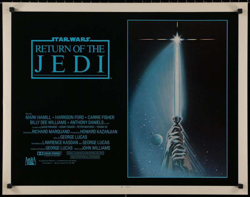 Return of the Jedi Half Sheet (22x28) Original Vintage Movie Poster