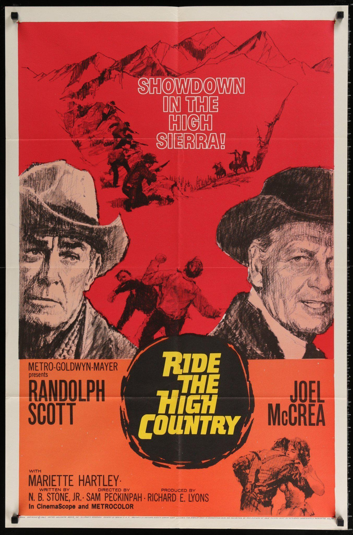 Ride the High Country 1 Sheet (27x41) Original Vintage Movie Poster