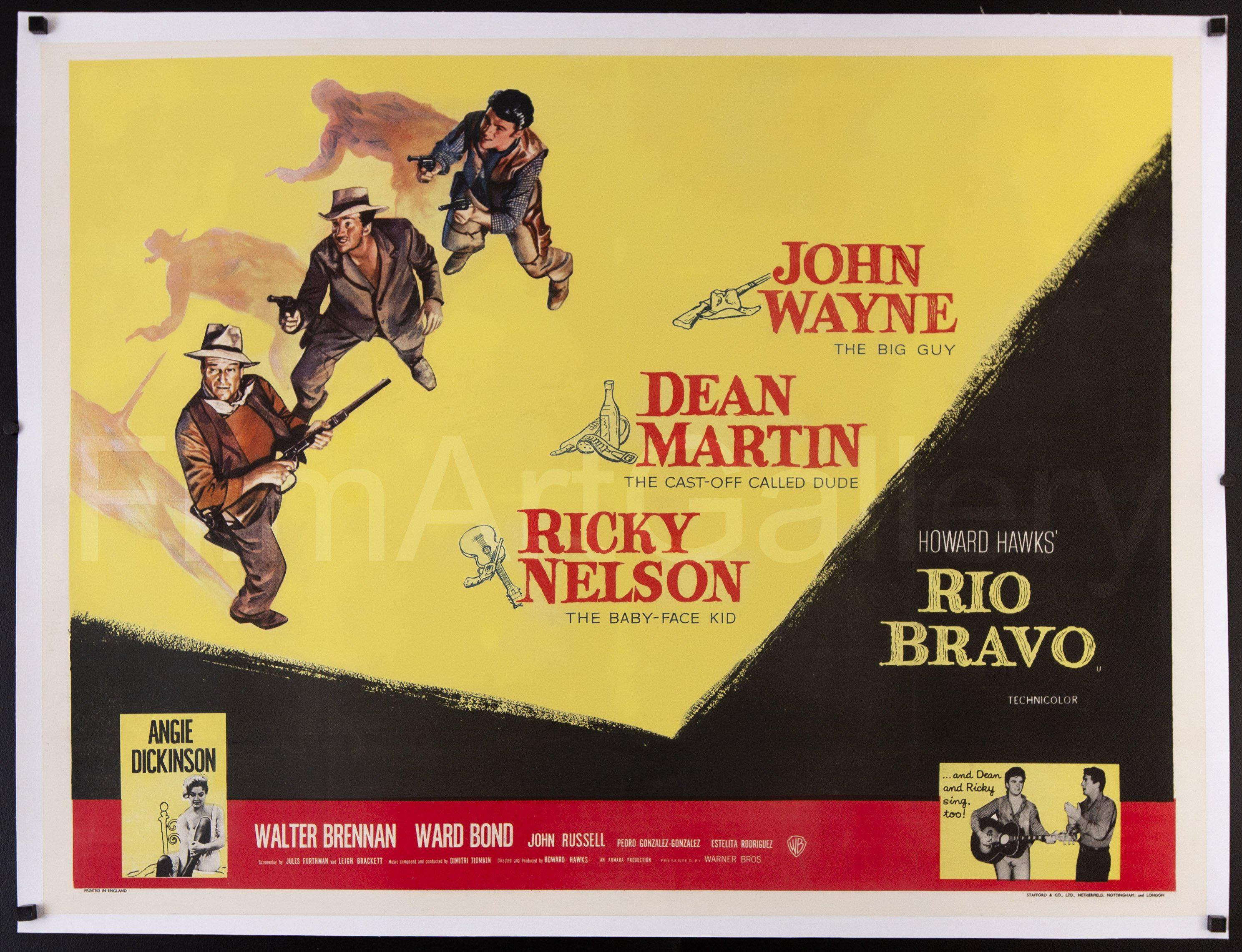 Rio Bravo British Quad (30x40) Original Vintage Movie Poster