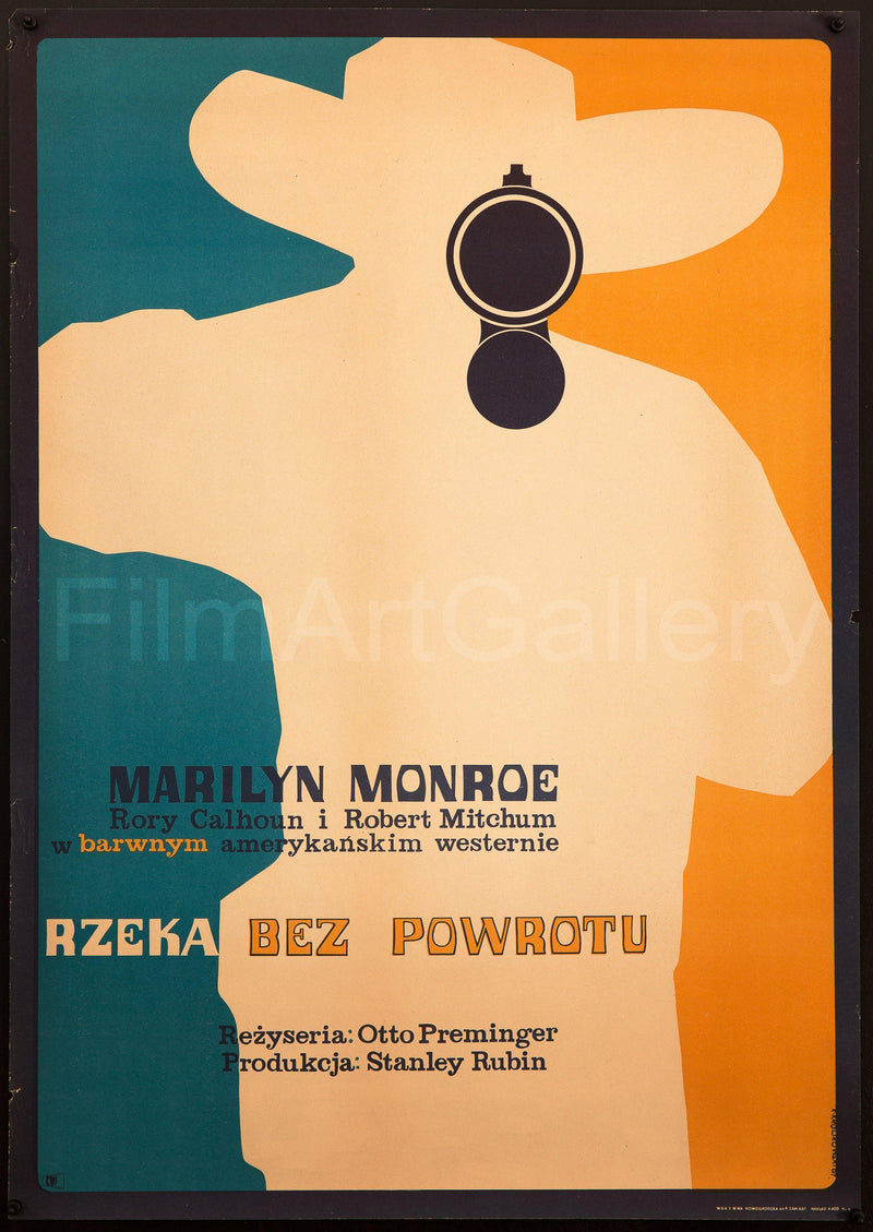 River of No Return Polish A1 (23x33) Original Vintage Movie Poster