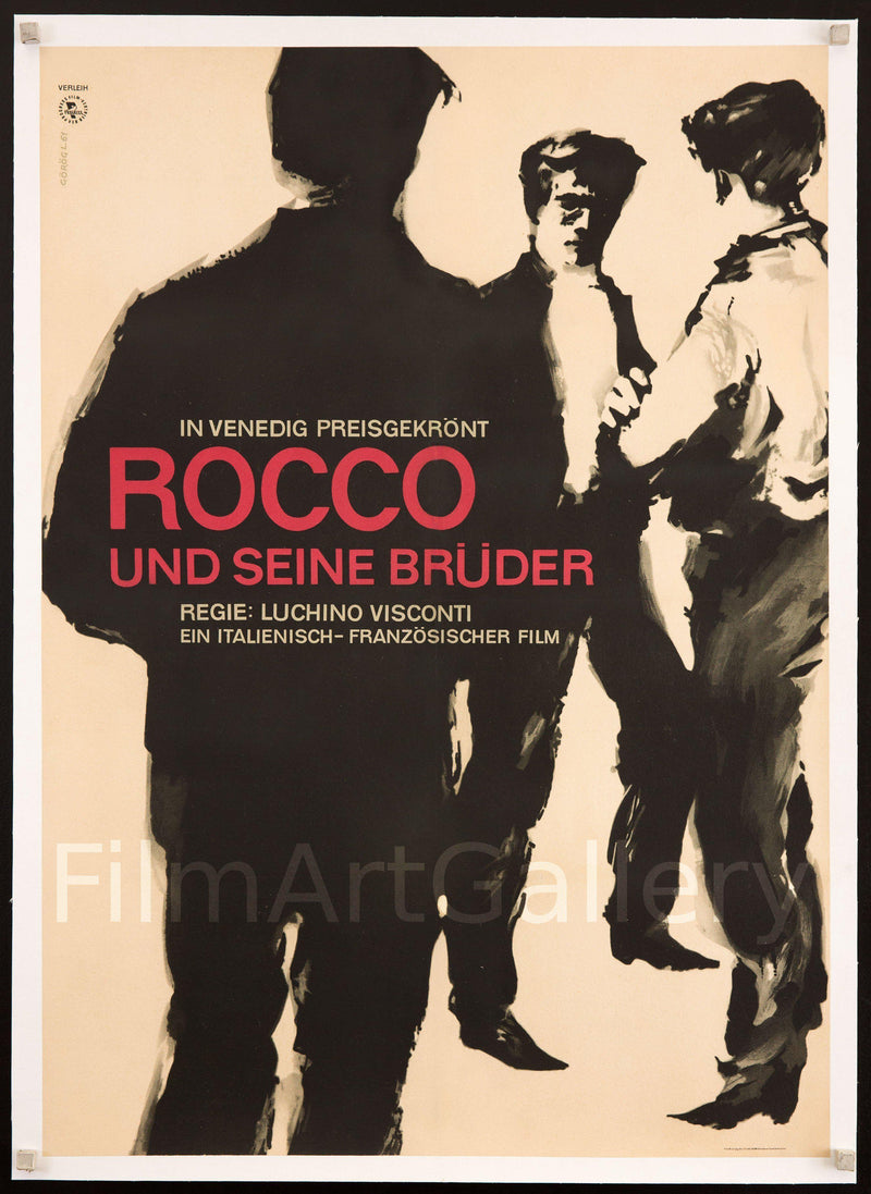 Rocco and His Brothers (Rocco E I Suoi Fratelli) German A1 (23x33) Original Vintage Movie Poster