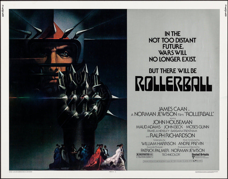 Rollerball Half Sheet (22x28) Original Vintage Movie Poster