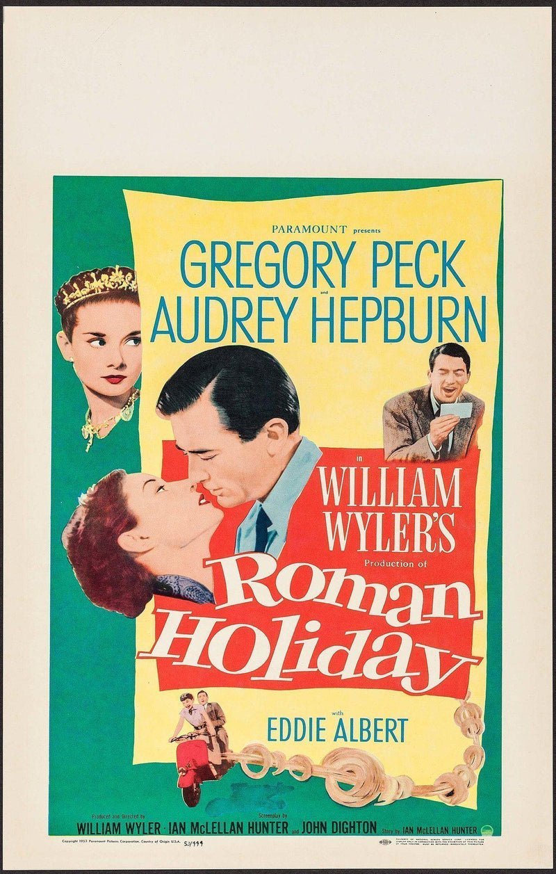 Roman Holiday Window Card (14x22) Original Vintage Movie Poster