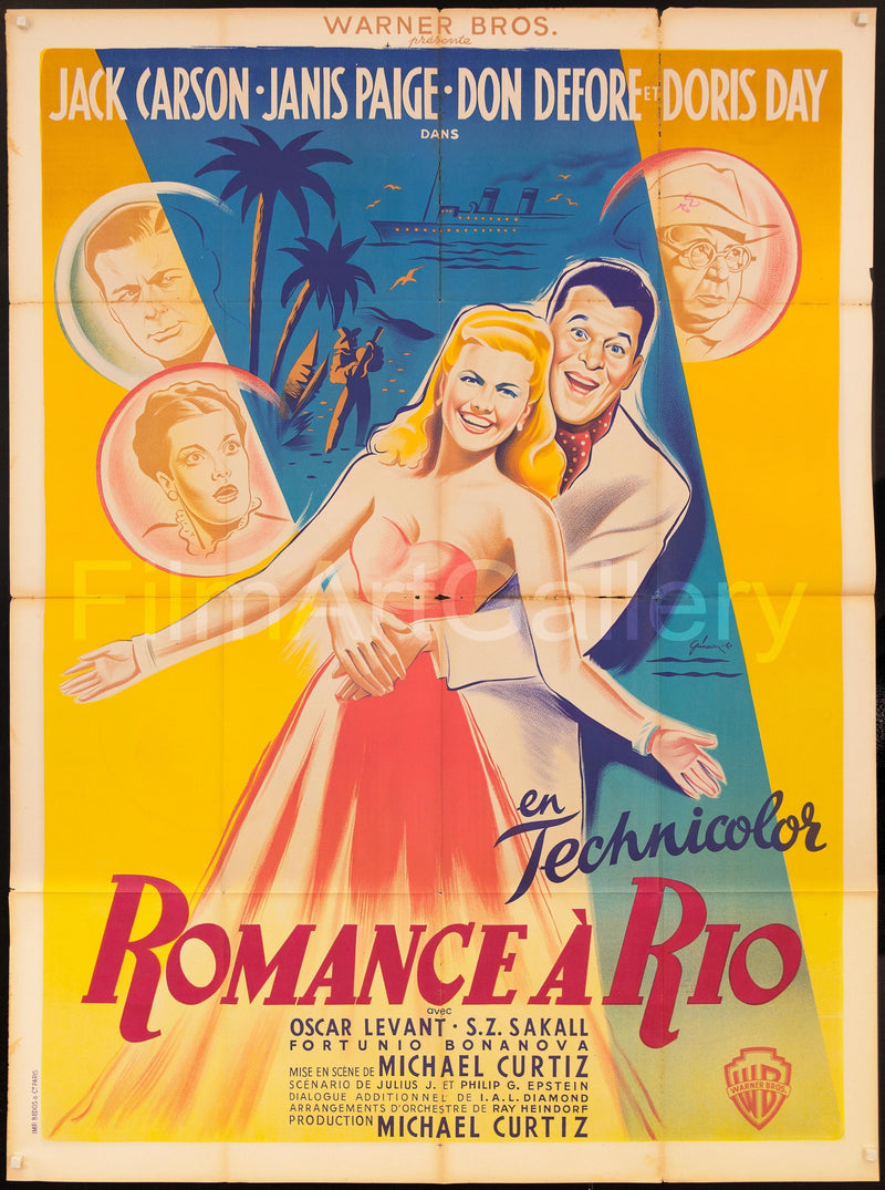 Romance On the High Seas French 1 Panel (47x63) Original Vintage Movie Poster