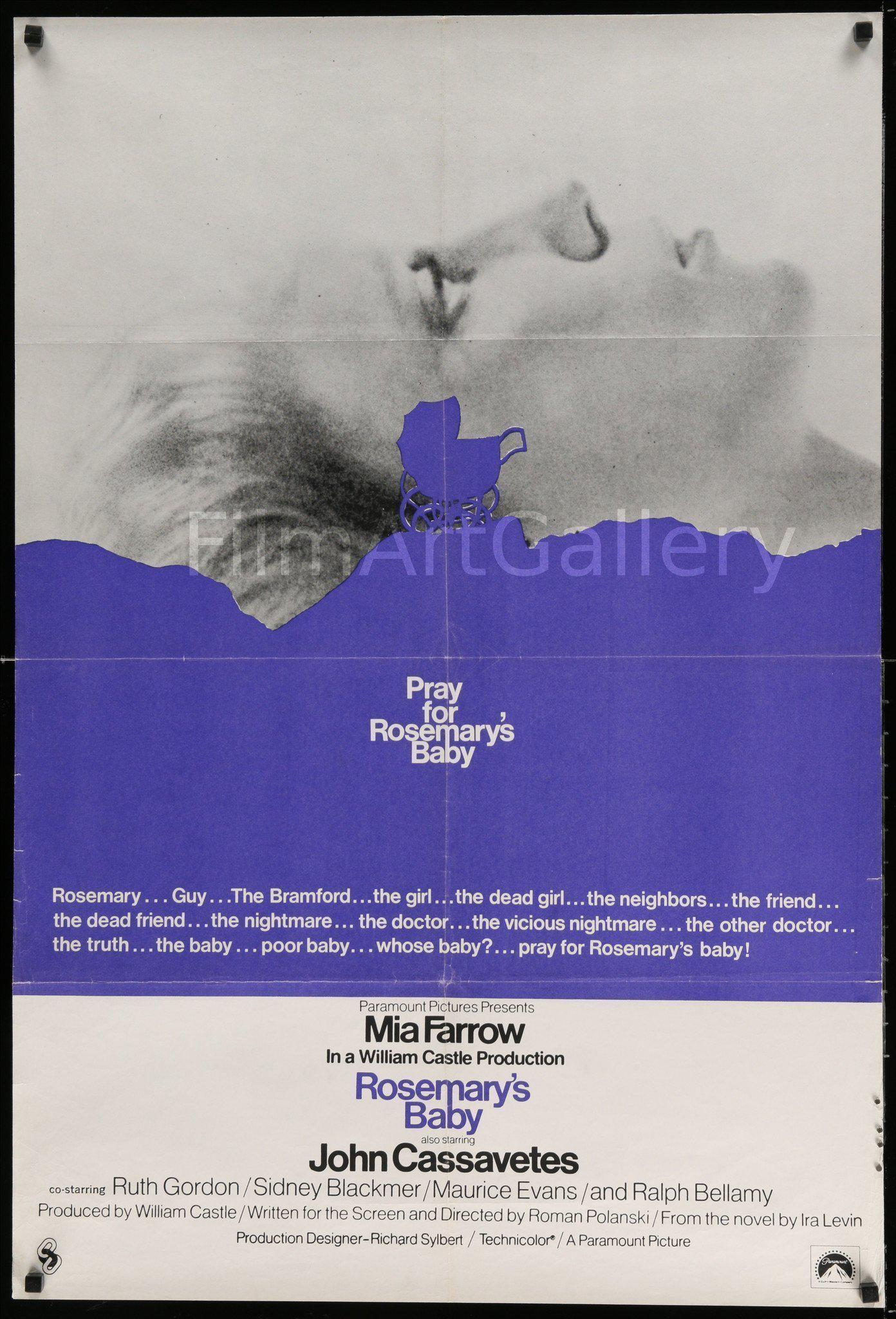 Rosemary's Baby 1 Sheet (27x41) Original Vintage Movie Poster