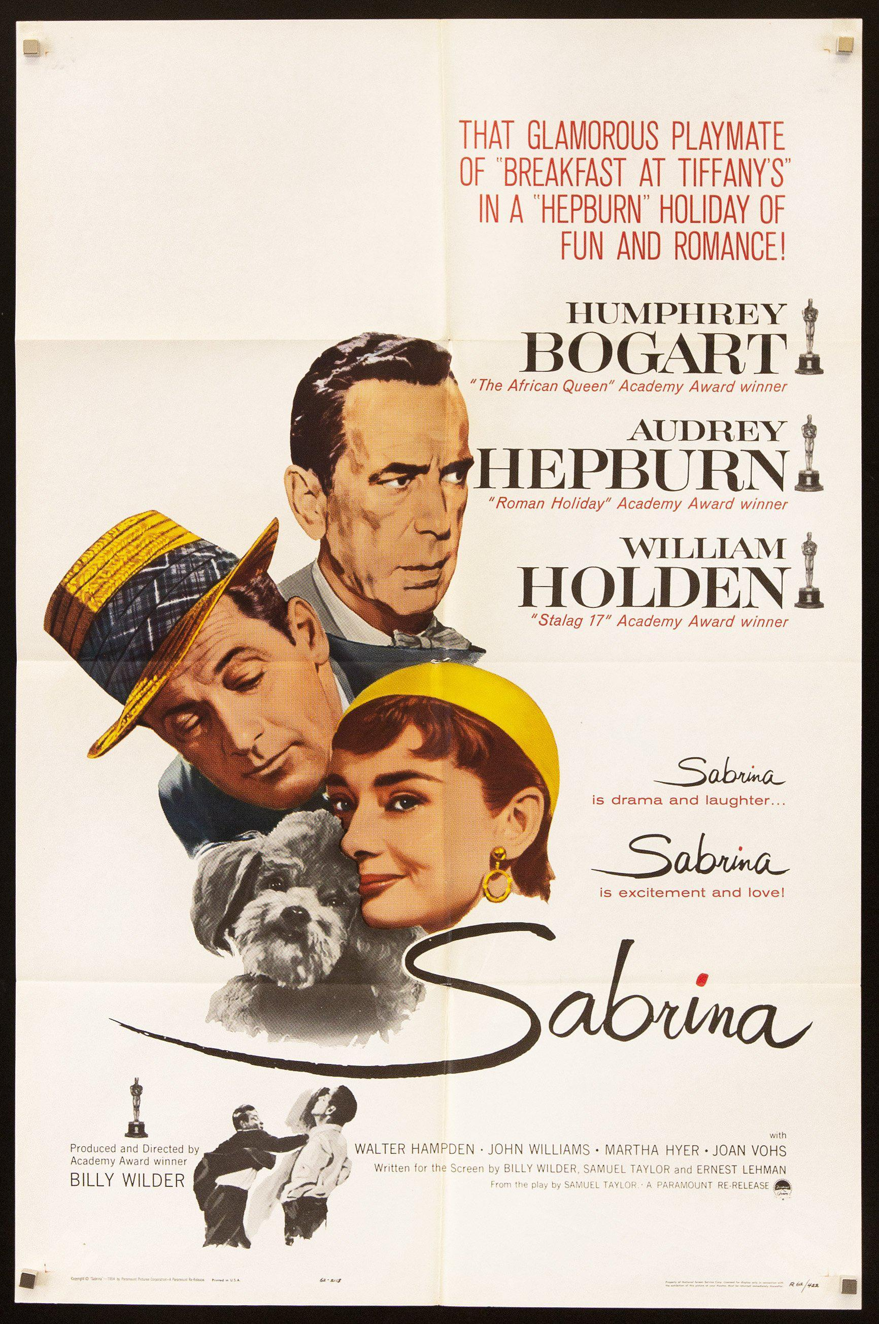 Sabrina 1 Sheet (27x41) Original Vintage Movie Poster