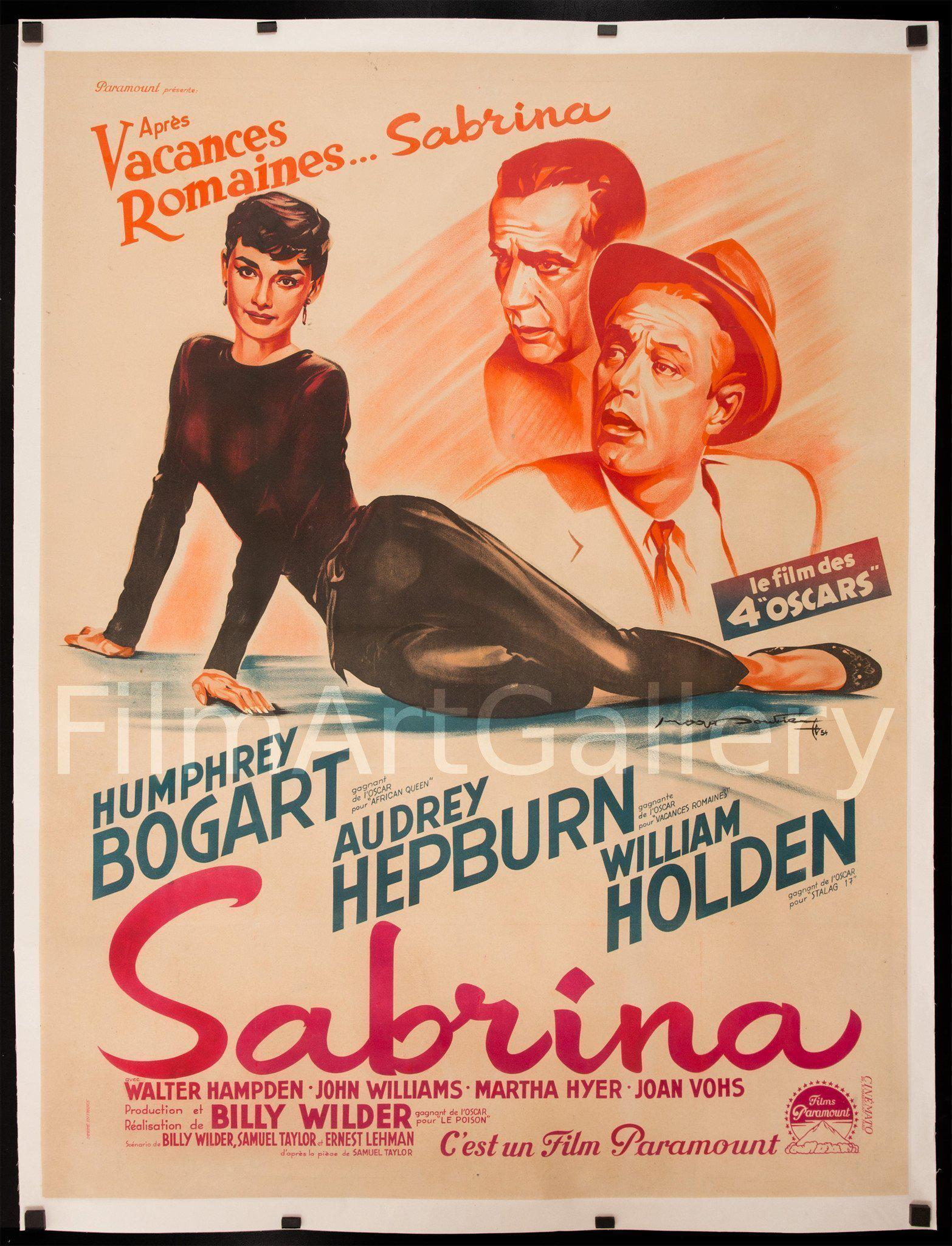 Sabrina French 1 Panel (47x63) Original Vintage Movie Poster