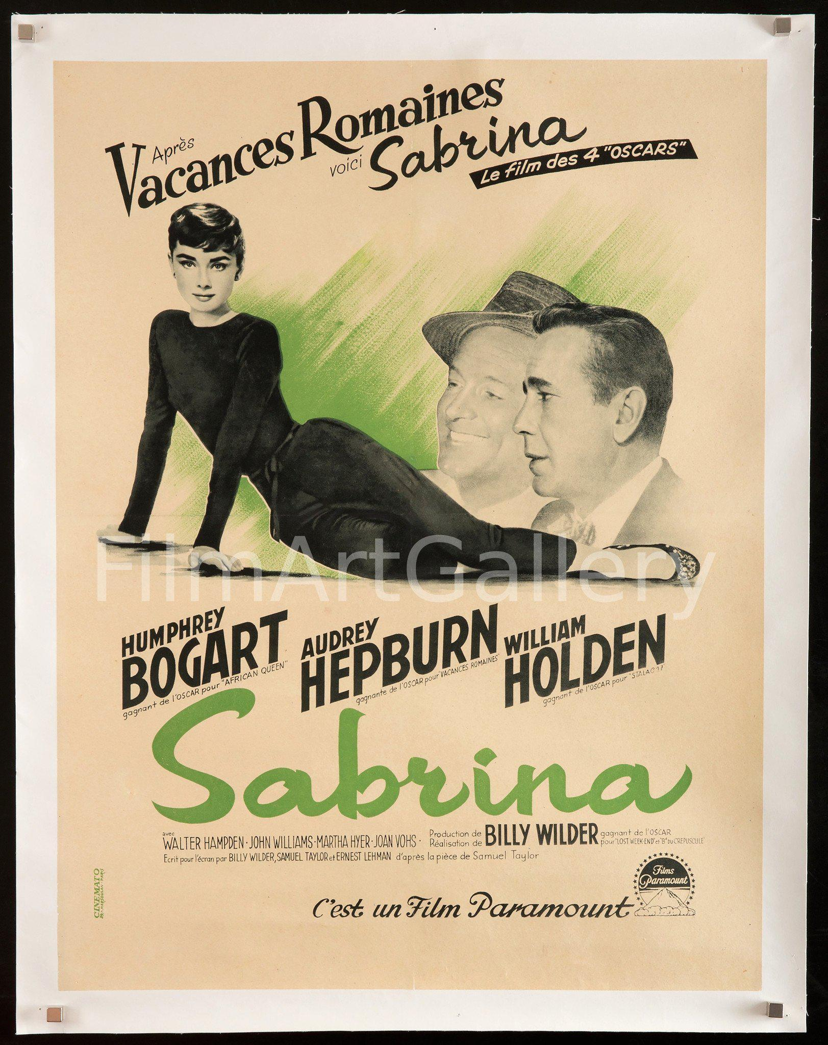 Sabrina French Small (23x32) Original Vintage Movie Poster