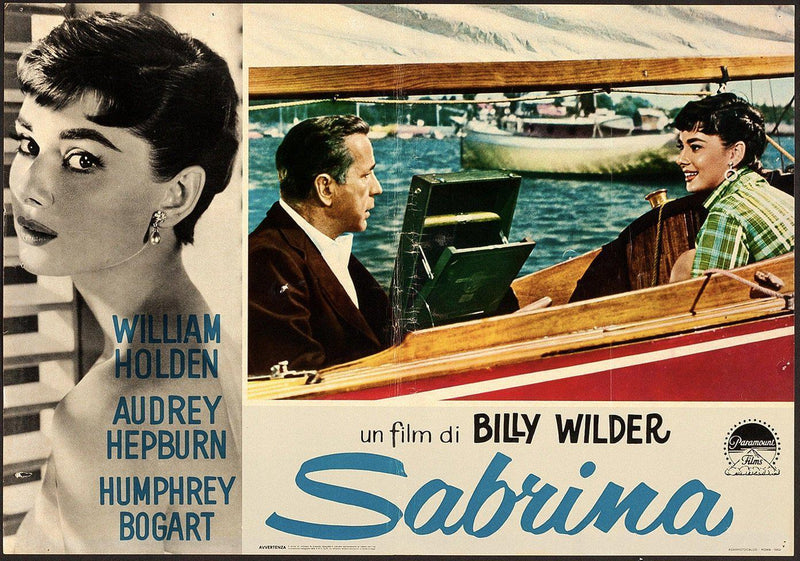 Sabrina Italian Photobusta (18x26) Original Vintage Movie Poster