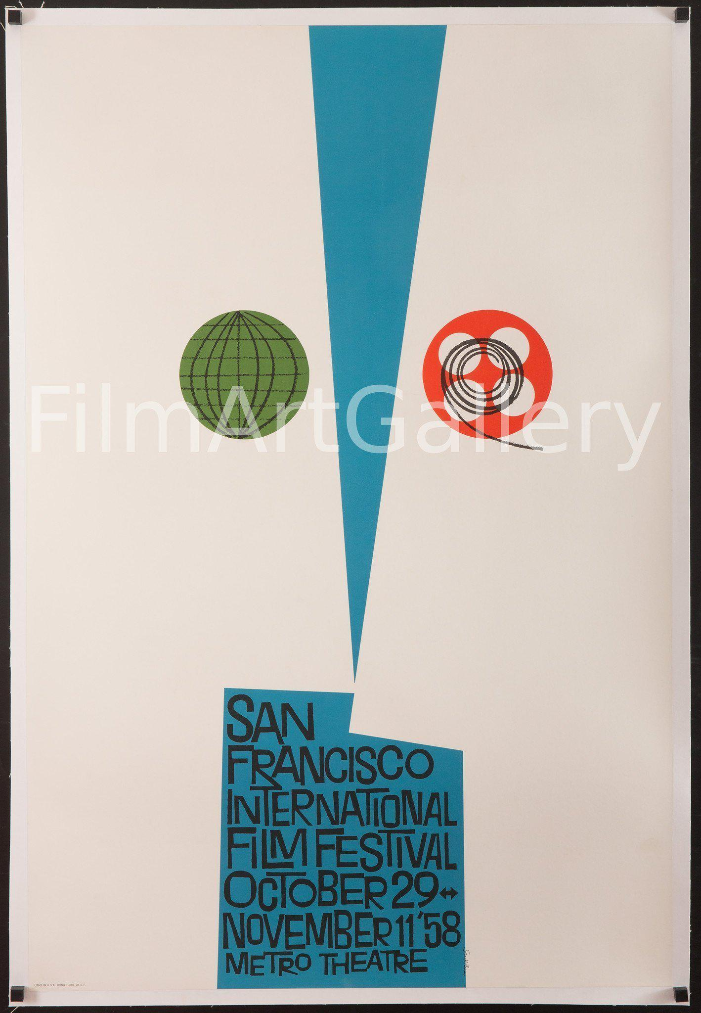 San Francisco Film Festival (Saul Bass) 1 Sheet (27x41) Original Vintage Movie Poster