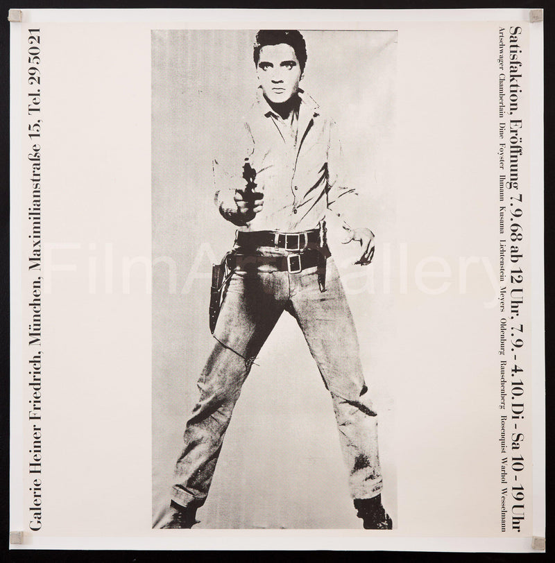 Satisfaktion art exhibit Munich (Andy Warhol's Elvis) 22x22 Original Vintage Movie Poster