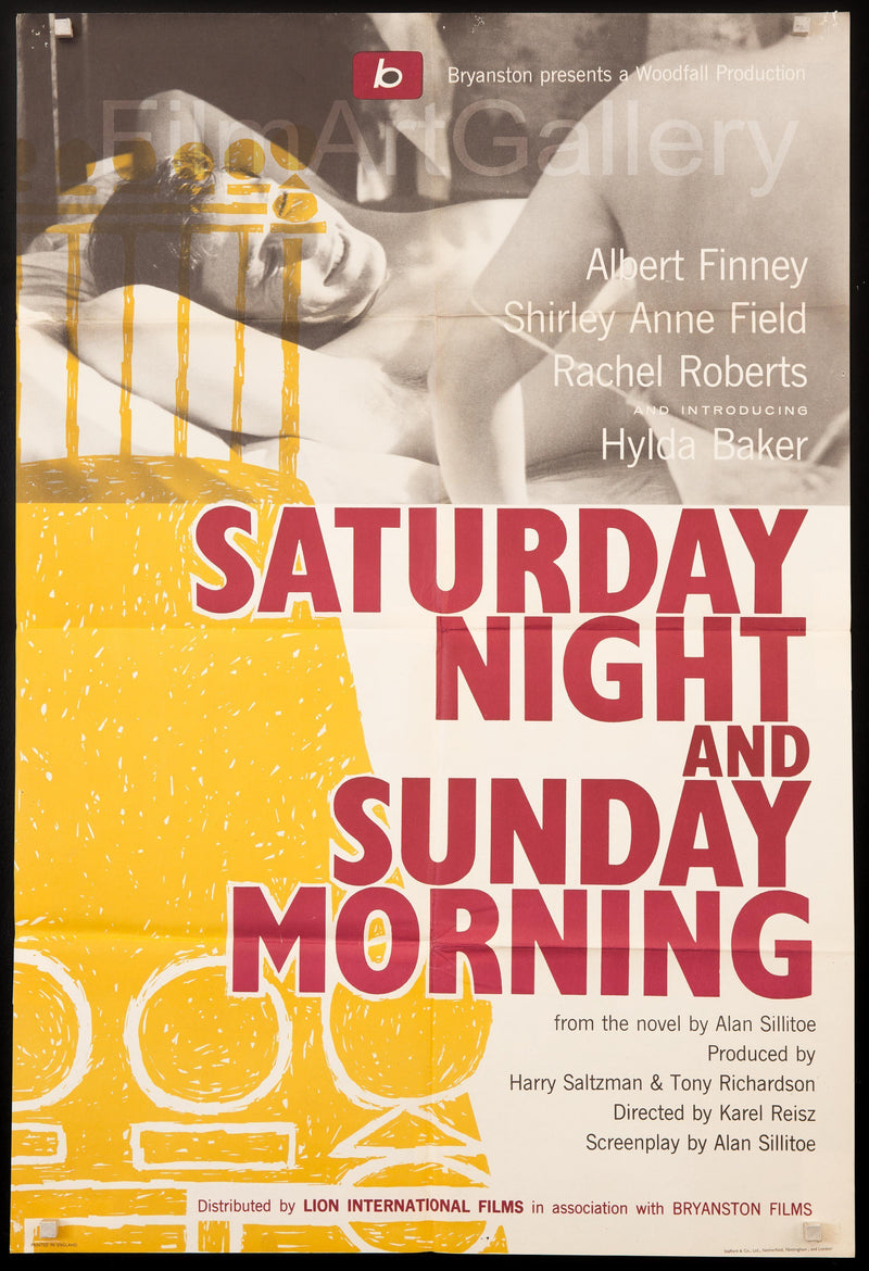 Saturday Night and Sunday Morning 1 Sheet (27x41) Original Vintage Movie Poster