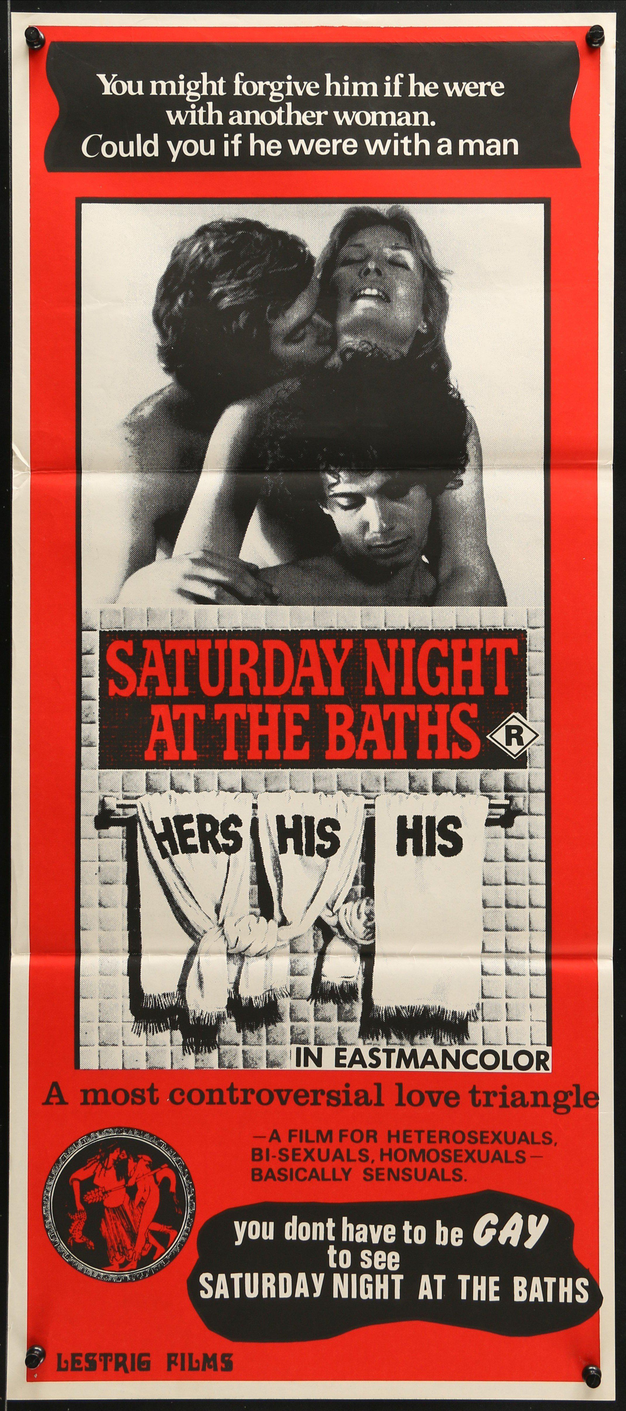 ce314a64b7 Saturday Night at the Baths Australian Daybill (13x30) Original Vintage  Movie Poster