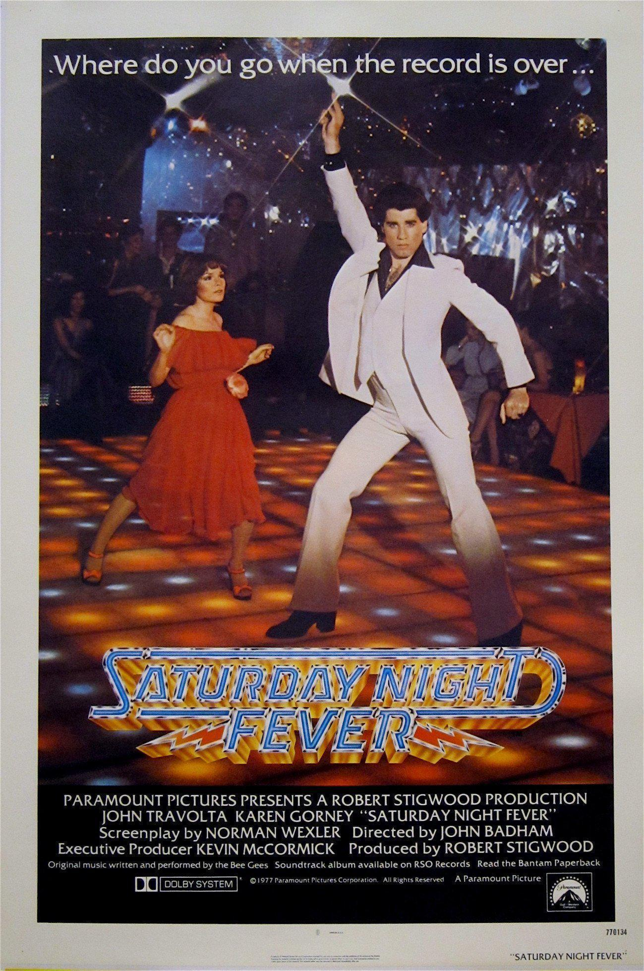 Saturday Night Fever 1 Sheet (27x41) Original Vintage Movie Poster
