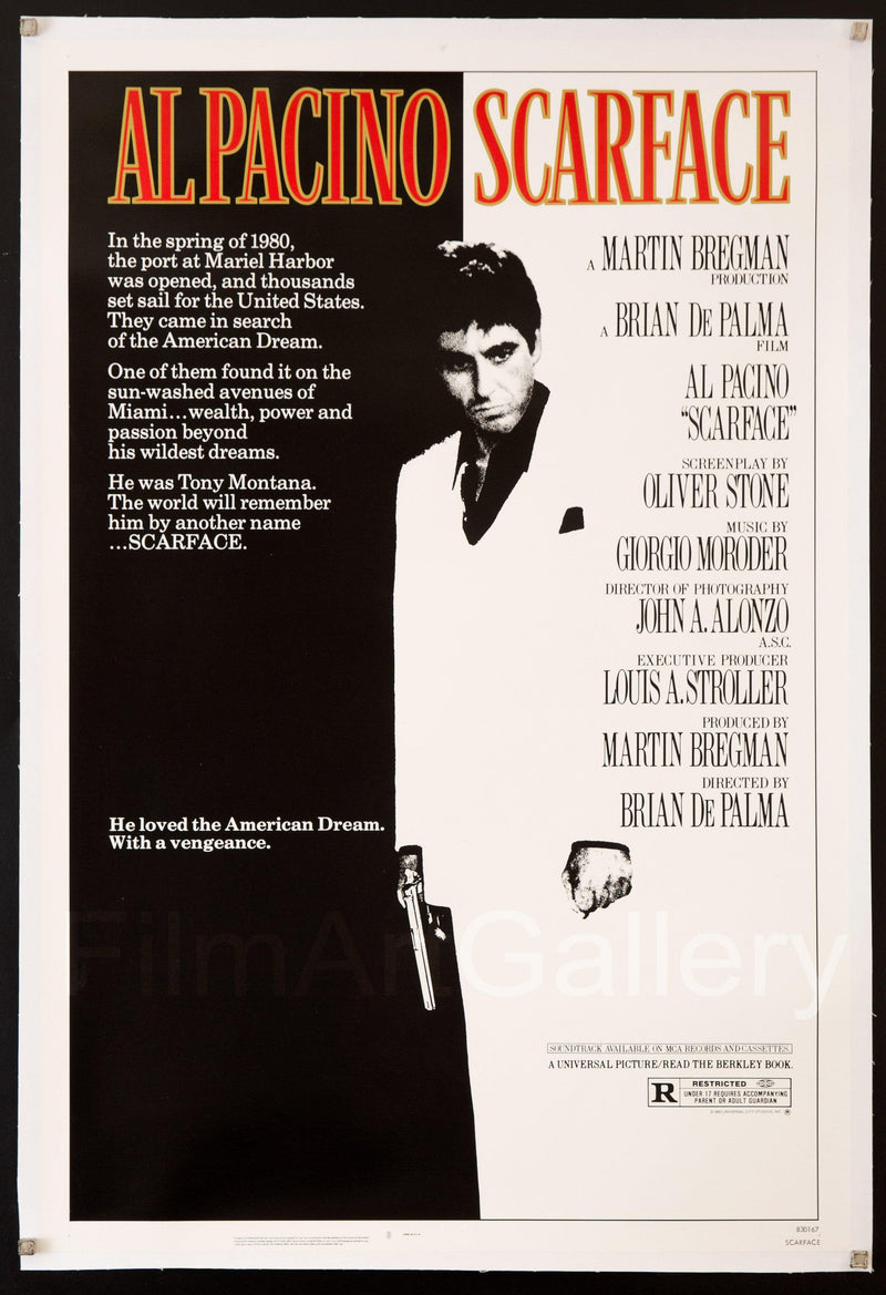 Scarface 1 Sheet (27x41) Original Vintage Movie Poster