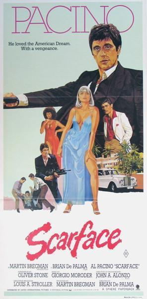 Scarface Australian Daybill (13x30) Original Vintage Movie Poster