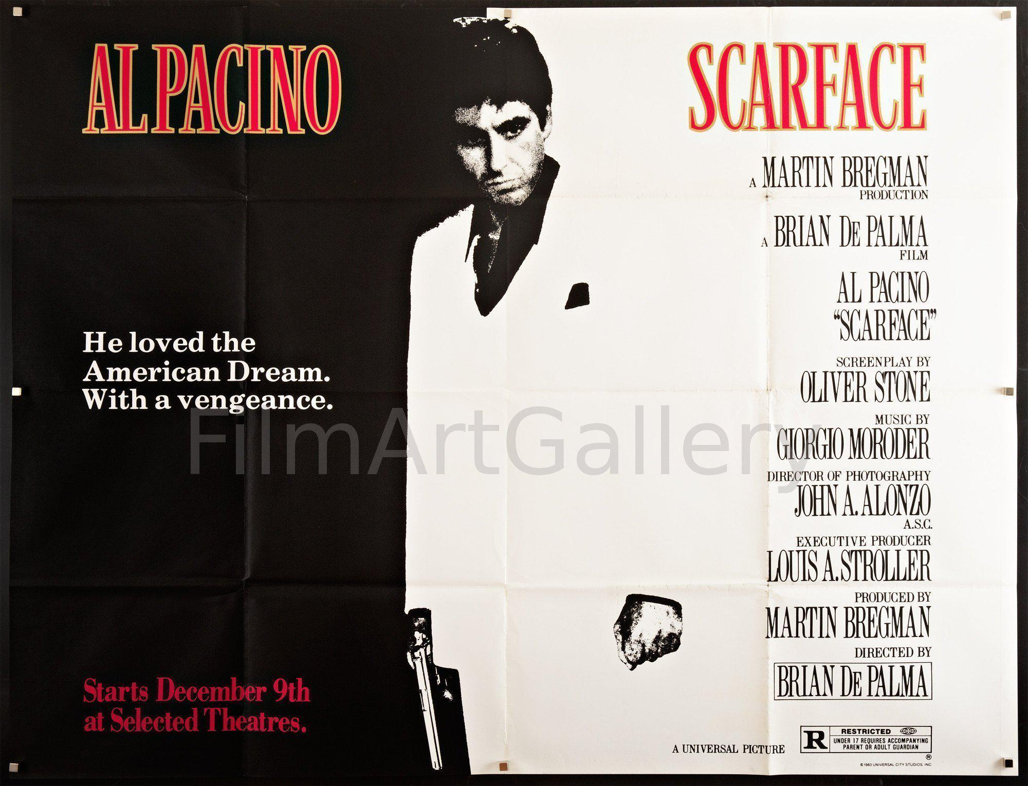 Scarface Subway 2 sheet (45x59) Original Vintage Movie Poster