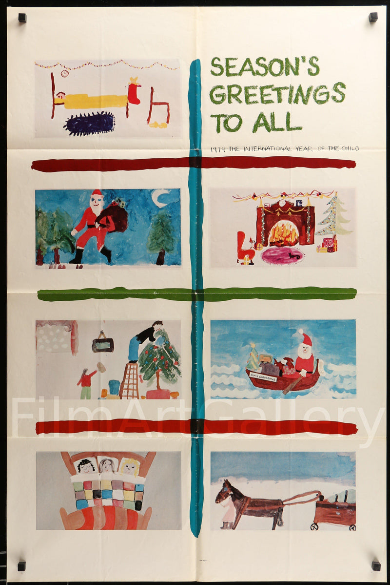 Season's Greetings To All 1 Sheet (27x41) Original Vintage Movie Poster