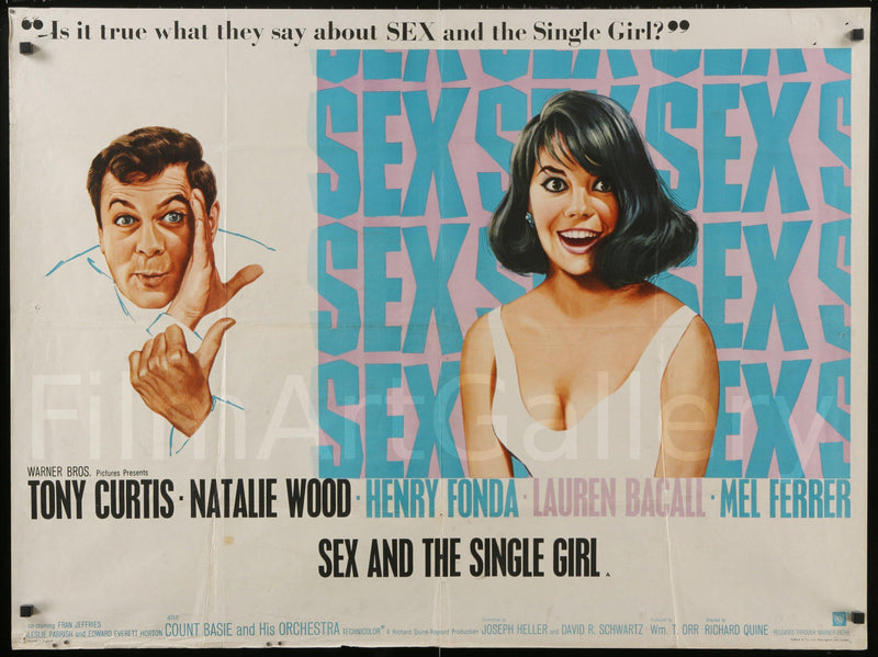 Sex and the Single Girl British Quad (30x40) Original Vintage Movie Poster