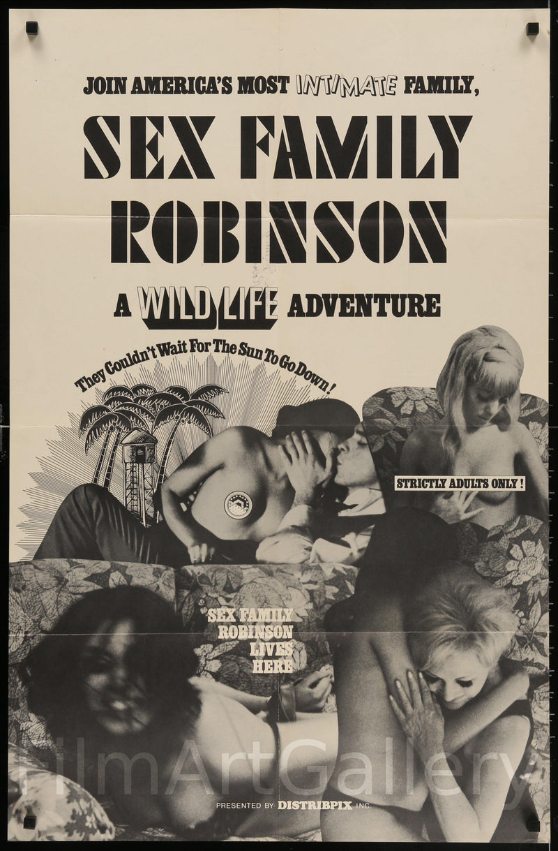 Sex Family Robinson 1 Sheet (27x41) Original Vintage Movie Poster