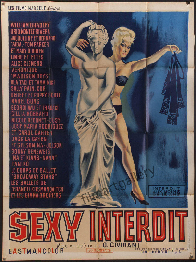 Sexy Interdit French 1 panel (47x63) Original Vintage Movie Poster