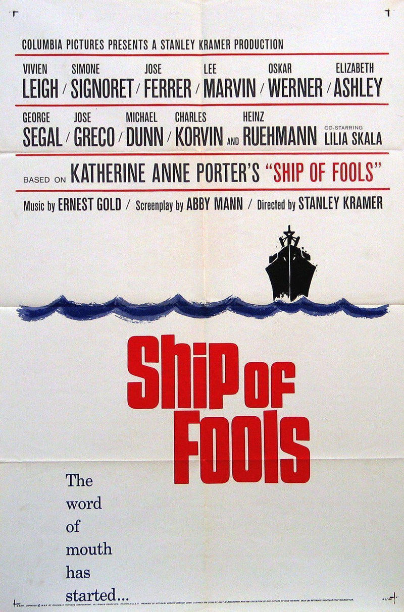 Ship of Fools 1 Sheet (27x41) Original Vintage Movie Poster