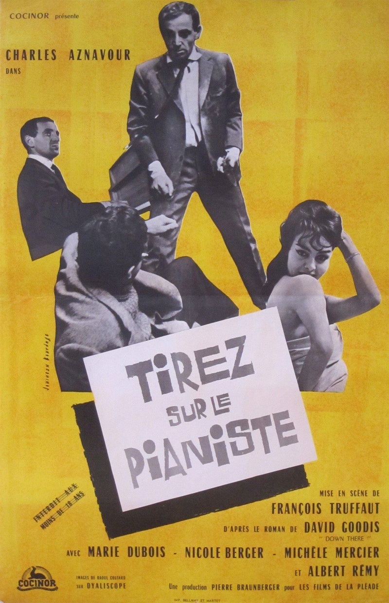 Shoot the Piano Player (Tirez Sur Le Pianiste) French mini (16x23) Original Vintage Movie Poster