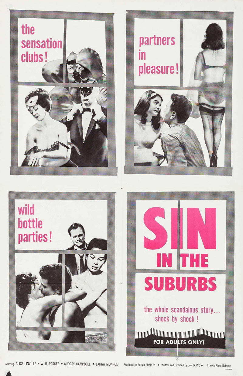 Sin In the Suburbs 1 Sheet (27x41) Original Vintage Movie Poster