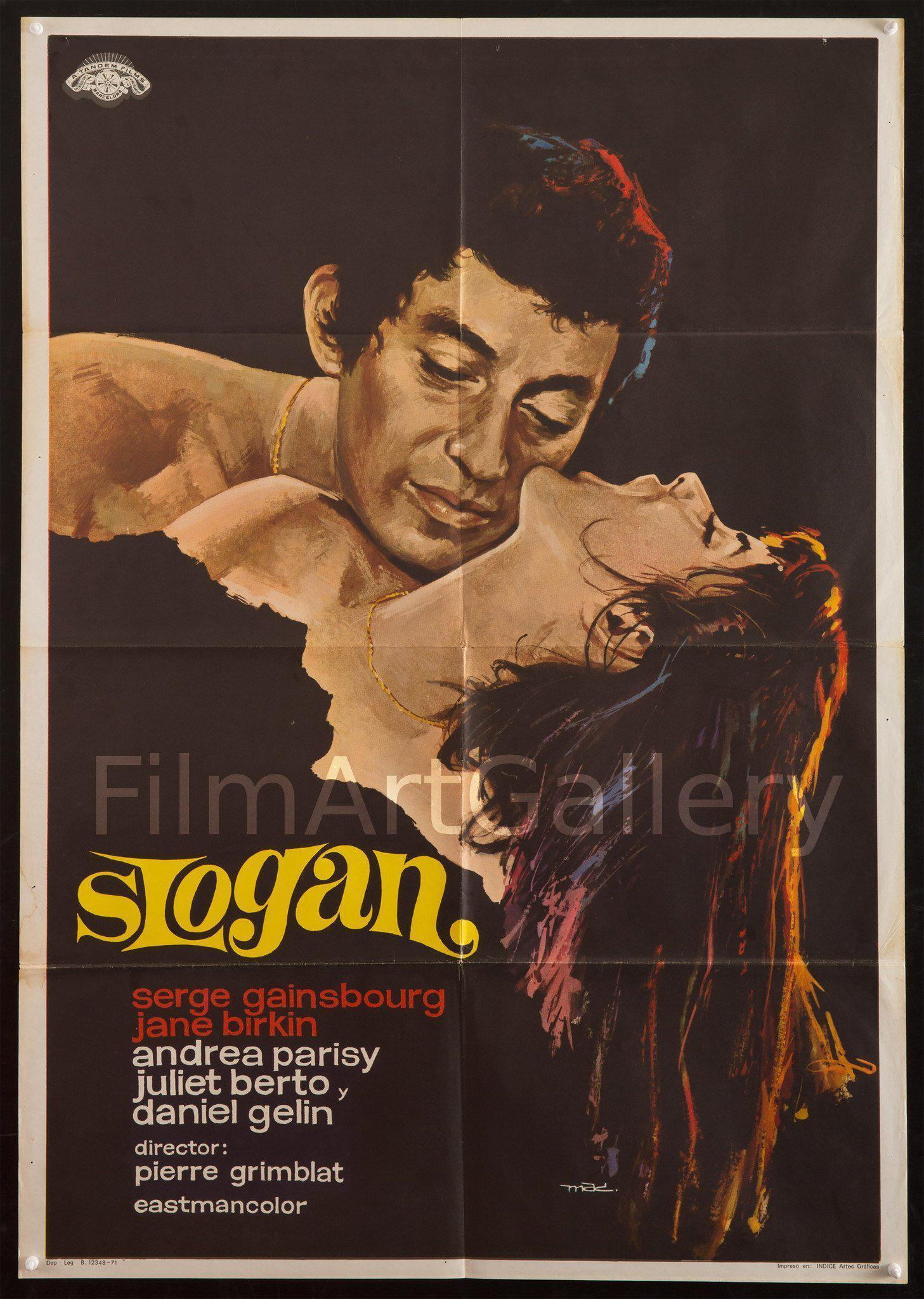Slogan 1 Sheet (27x41) Original Vintage Movie Poster