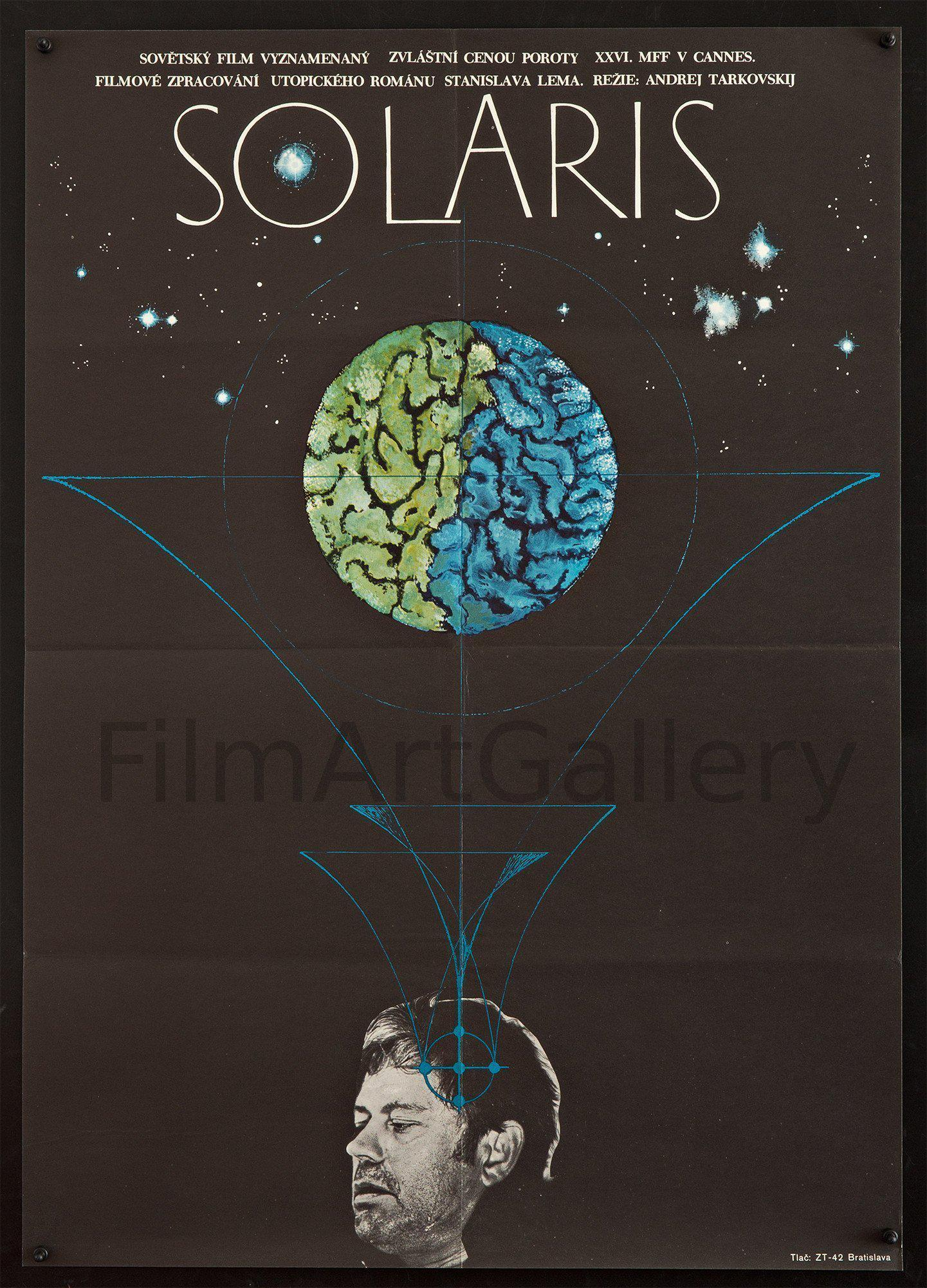 Solaris Czech (23x33) Original Vintage Movie Poster
