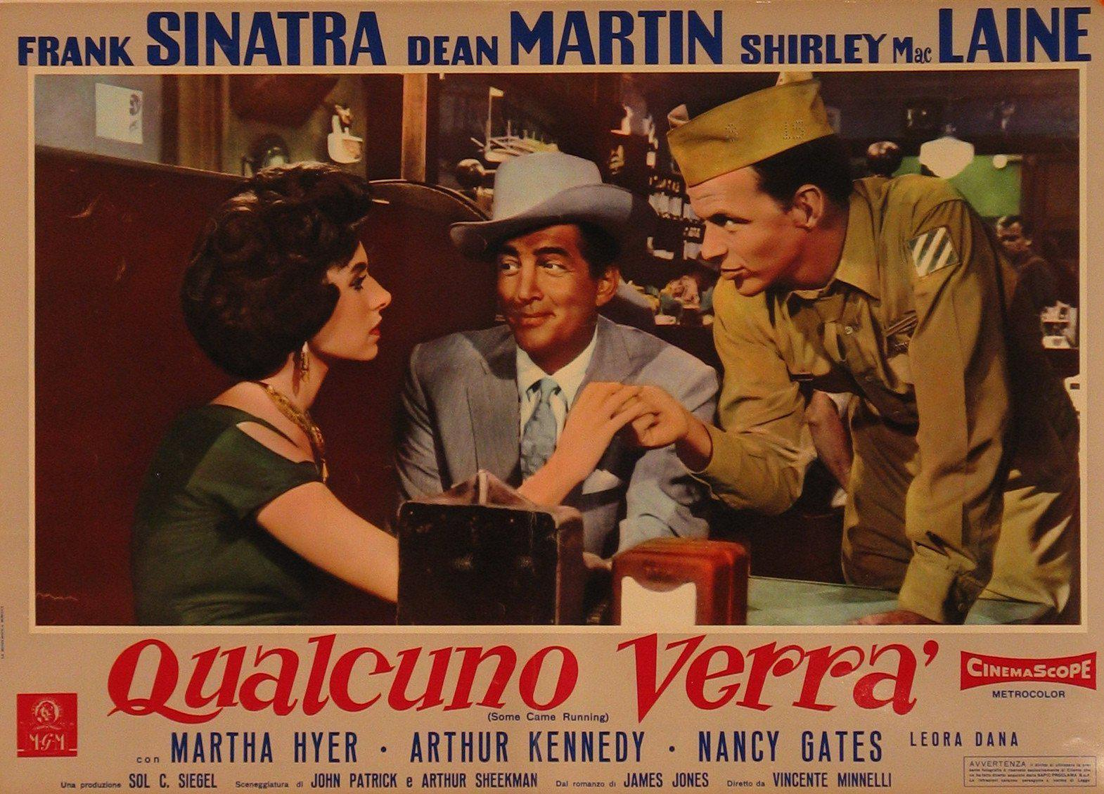 Some Came Running Italian Photobusta (18x26) Original Vintage Movie Poster