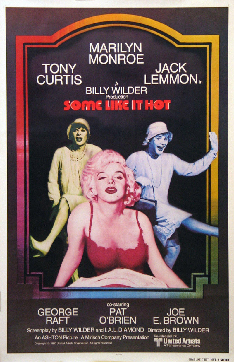 Some Like it Hot 1 Sheet (27x41) Original Vintage Movie Poster