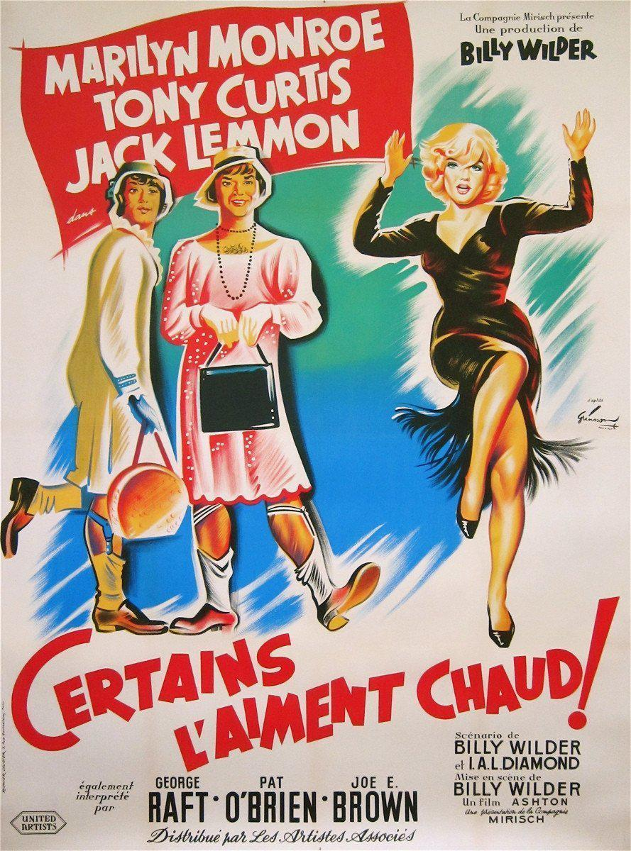 Some Like It Hot French 1 panel (47x63) Original Vintage Movie Poster