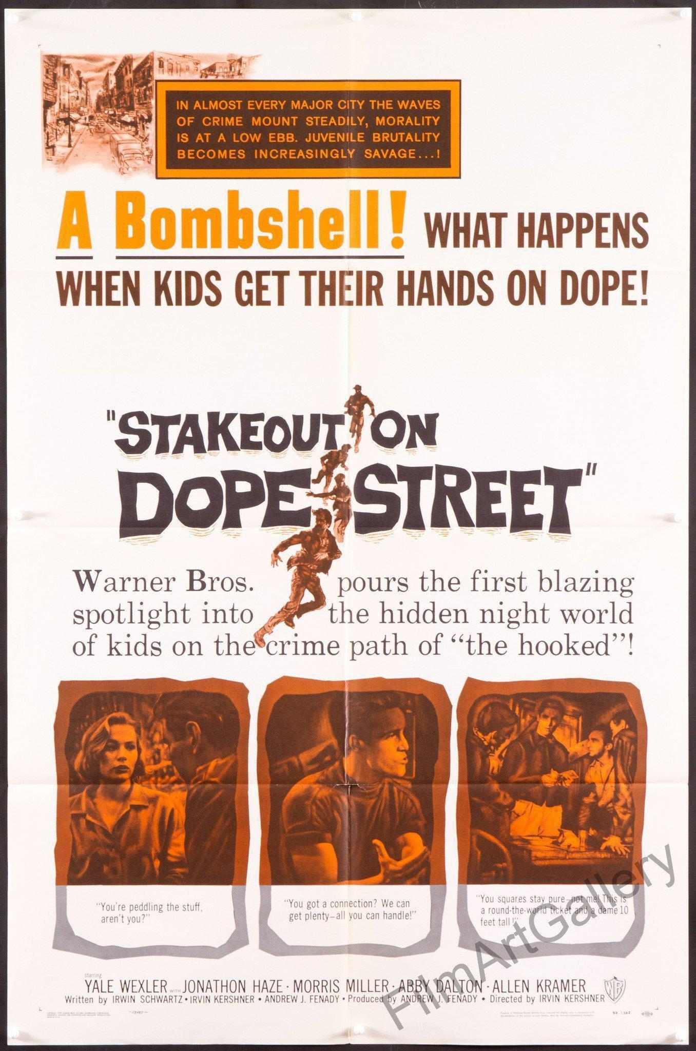 Stakeout On Dope Street 1 Sheet (27x41) Original Vintage Movie Poster