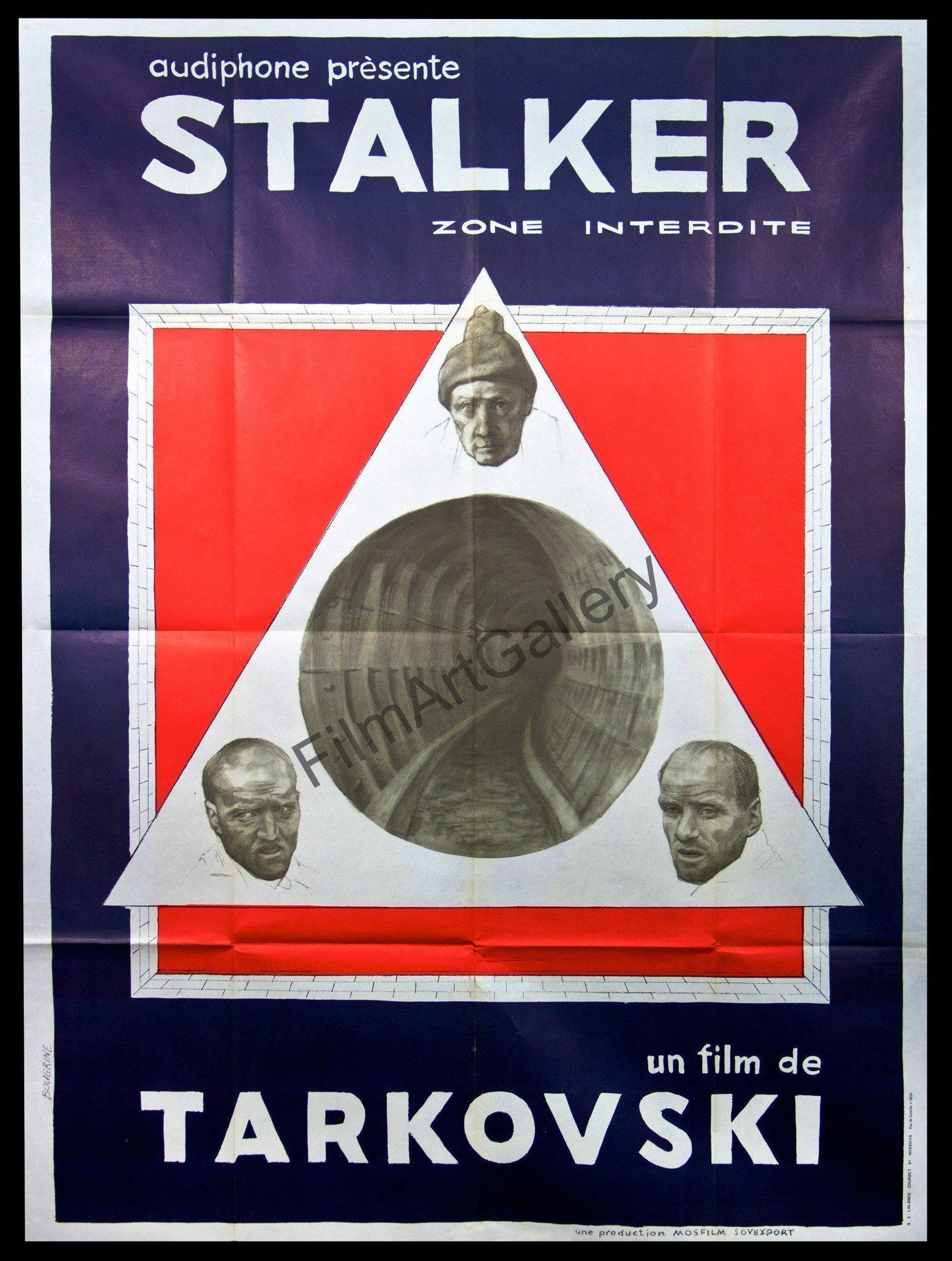Stalker French 1 panel (47x63) Original Vintage Movie Poster
