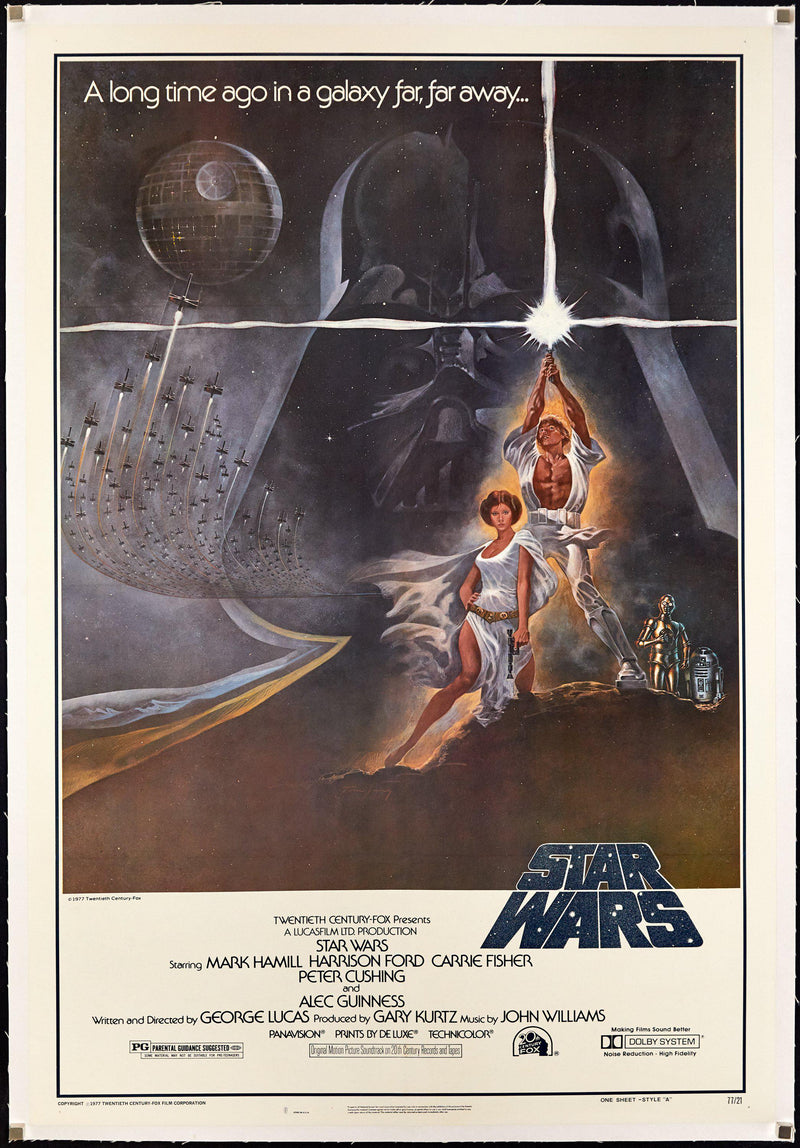 Star Wars 1 Sheet (27x41) Original Vintage Movie Poster