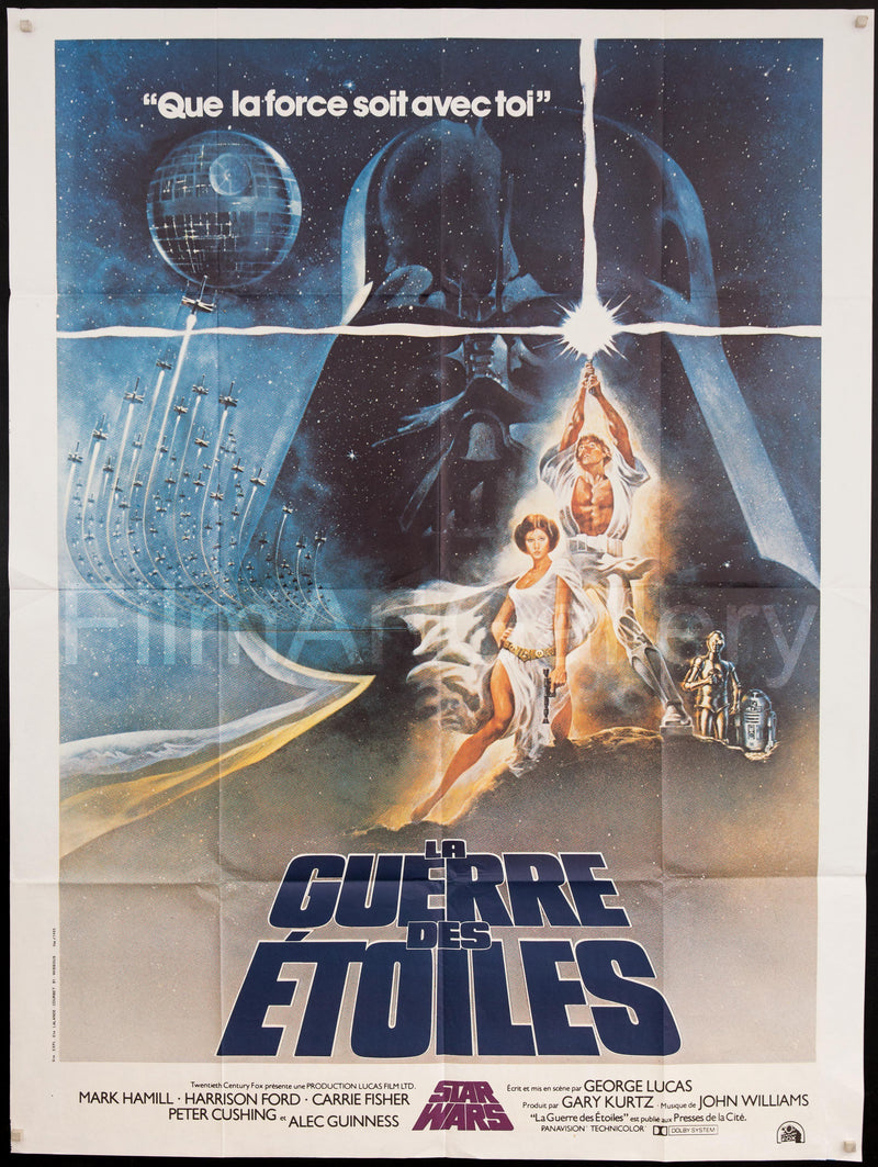 Star Wars French 1 Panel (47x63) Original Vintage Movie Poster