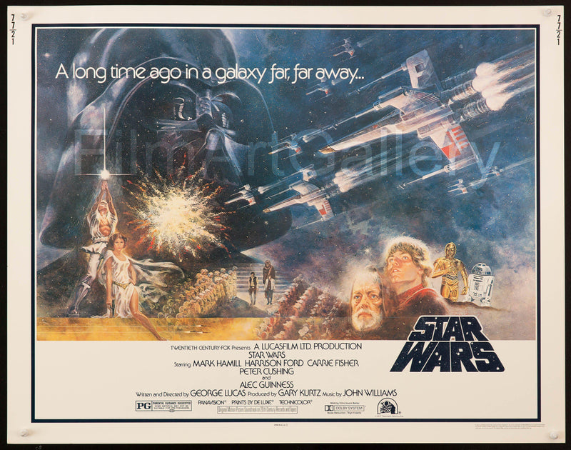 Star Wars Half Sheet (22x28) Original Vintage Movie Poster